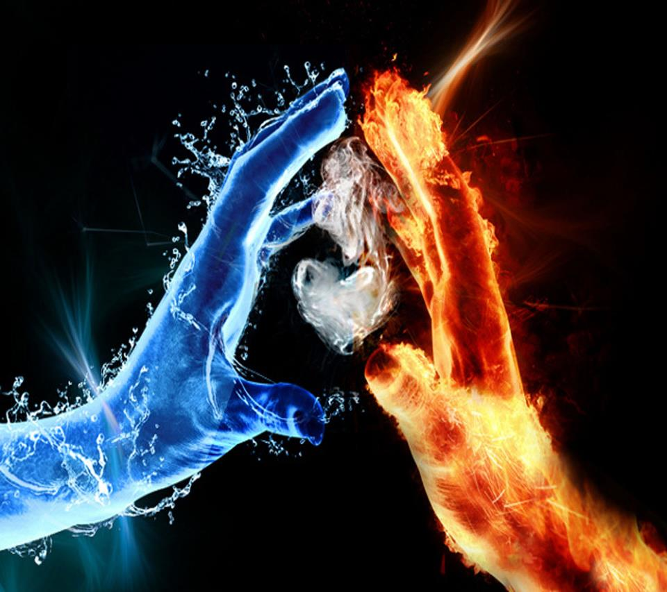 fire and ice heart - photo #13